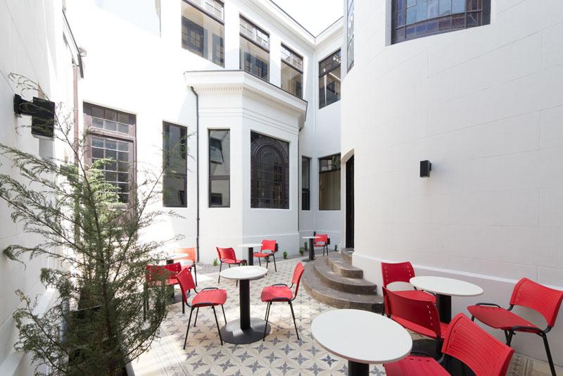 Arquitectura_Restatauración _Palacio Alamos_ Chile_imagen del patio