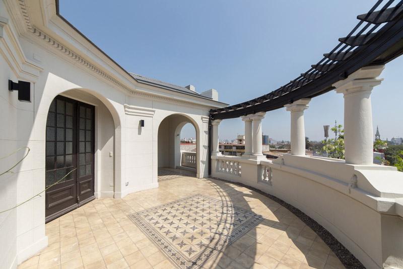 Arquitectura_Restatauración _Palacio Alamos_ Chile_terraza de cubierta