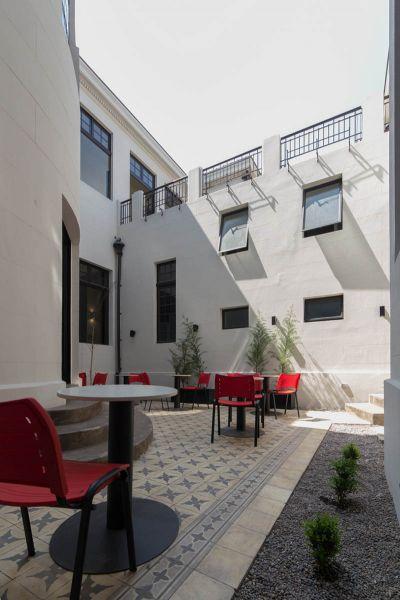 Arquitectura_Restatauración _Palacio Alamos_ Chile_imagen lateral del patio