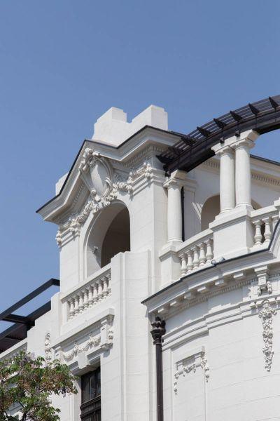 Arquitectura_Restatauración _Palacio Alamos_ Chile_imagen de decorados de fachada