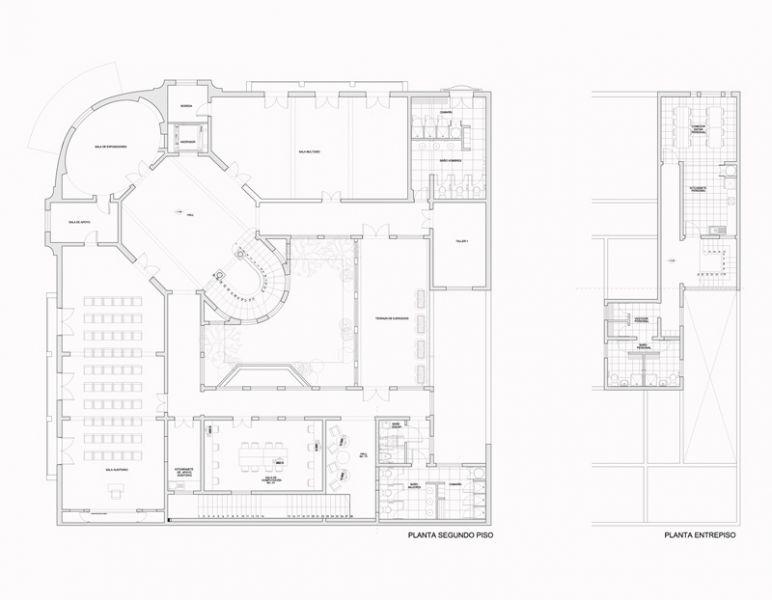 Arquitectura_Restatauración _Palacio Alamos_ Chile_PLANTA_segunda_Y_ENTREPISO
