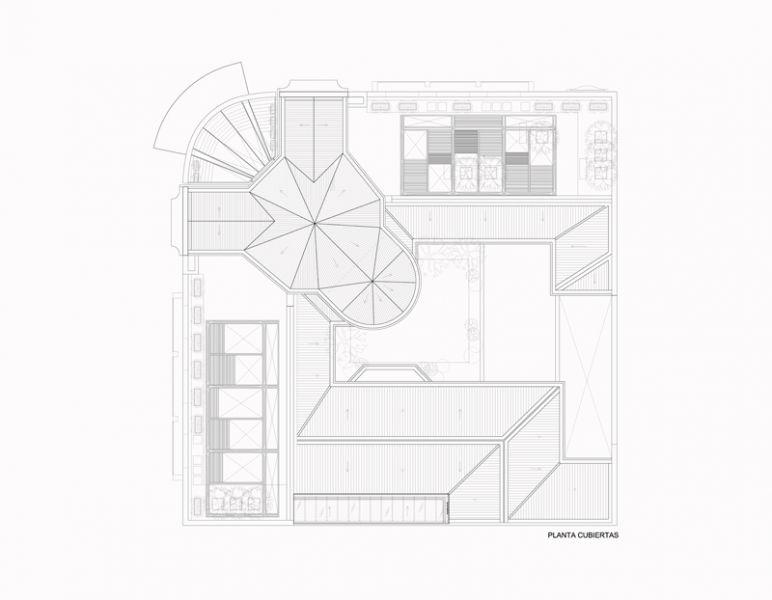 Arquitectura_Restatauración _Palacio Alamos_ Chile_PLANTA_de cubierta