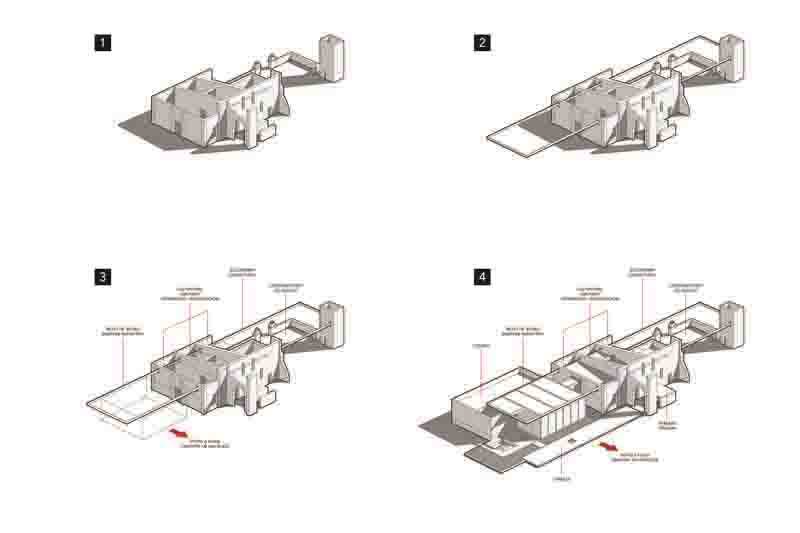 ARQUITECTURA_RESTAURANTE_IXI'IM REHABILITACION- axonometrias