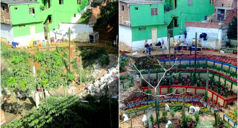 arquitectura_ imagen de Barrio Villa del Socorro  antes y despues