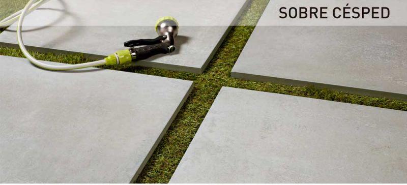 rocersa outdoor 20 suelo gres porcelanico sobre cesped