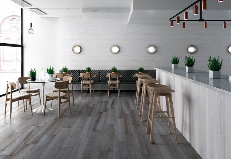 Rocersa Cerámica suelos cerámicos en acabado madera foto interior charisma