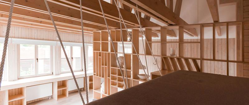 arquitectura, arquitecto, interiorismo, diseño interior, design, Ruetemple, Moscú, taller artístico, espacio de trabajo, madera