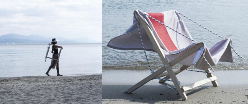 arquitectura, arquitecto, diseño, design, Júlia Esqué, silla, asiento, playa, hamaca, toalla, ECAL, producto, mobiliario, exterior, mar, Marina