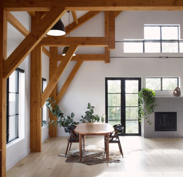 arquitectura_ Silo House - Caledon Build _ comedor
