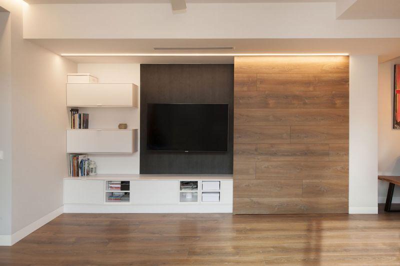arquitectura sincro proyecto almeda salon mueble tv