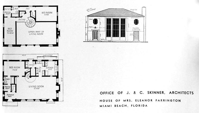 arquitectura_Skinner House_ rehabilitacion art deco_ miami -plano de 1934