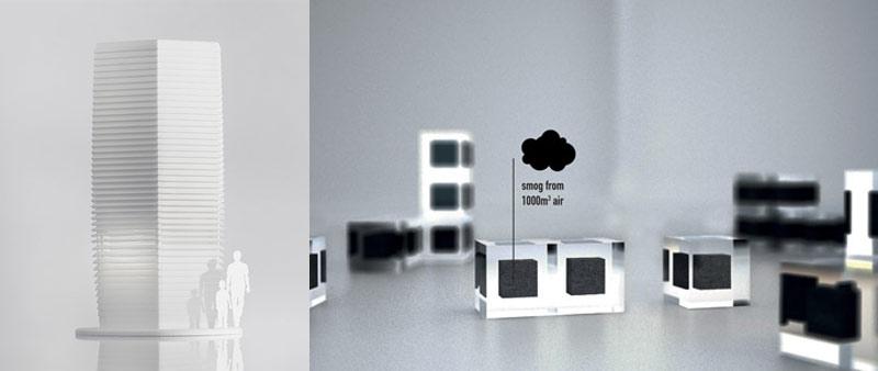 arquitectura, tecnología, materiales, contaminación, polución, Smog Free Project, Smog Free Tower, aire limpio