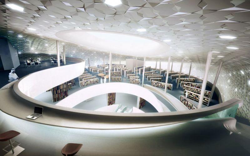 arquitectura_Snoetta_Centro Abdulaziz_biblioteca render