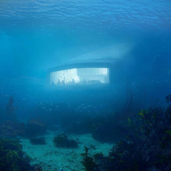 ARQUITECTURA SNOHETTA UNDER render submarino mirador