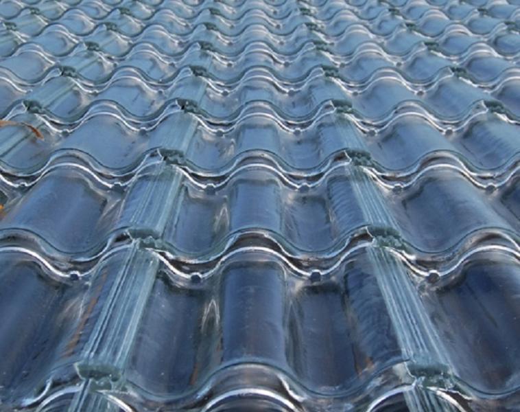 Soltech tejas de vidrio para producir energ a solar fotovoltaica en cubierta arquitectura - Vidrio plastico transparente precio ...