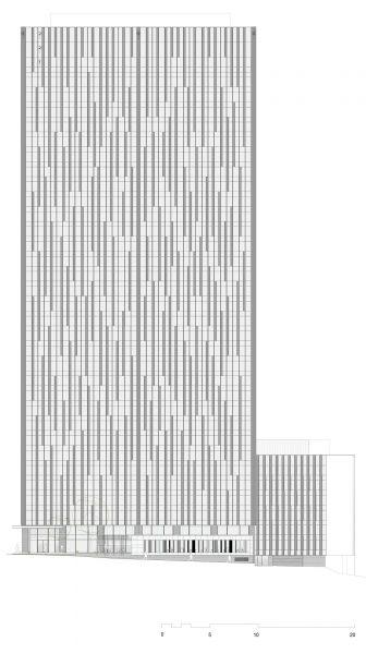 arquitectura sostenible_lamela_torre astro_alzado frontal