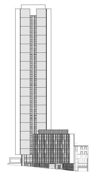 arquitectura sostenible_lamela_torre astro_alzado lateral