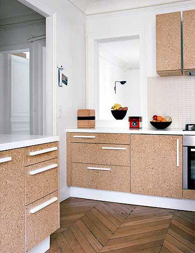 arquitectura sostenible_revestimientos de corcho_mobiliario cocina_decofilia.com