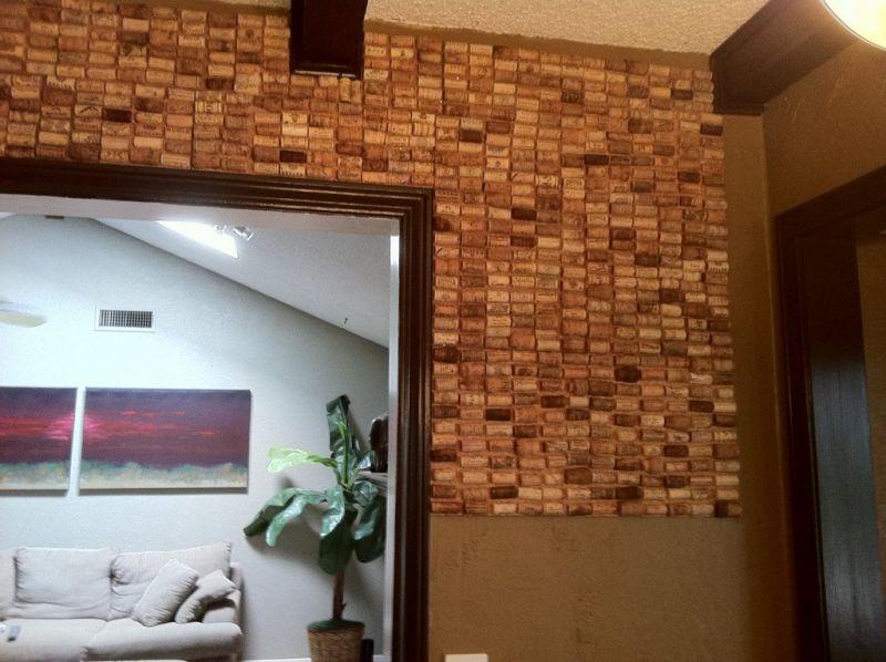 arquitectura sostenible_revestimientos de corcho_pared reciclaje tapones corcho_juntoshacemosfuturo.com