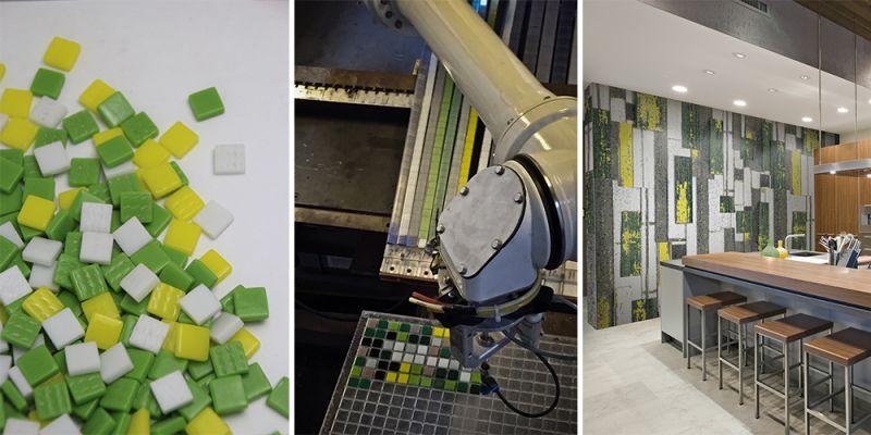 arquitectura sostenible_revestimientos interiores de materiales reciclados_vidrio