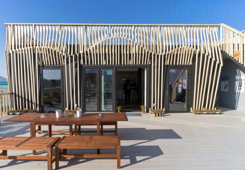 arquitectura sostenible_RISE House_Solar Decathlon_fachada