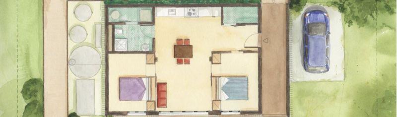 arquitectura sostenible_RISE House_Solar Decathlon_planta tipo