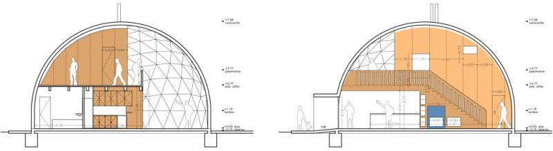 arquitectura sostenible_VIVIENDA YECLA_sección