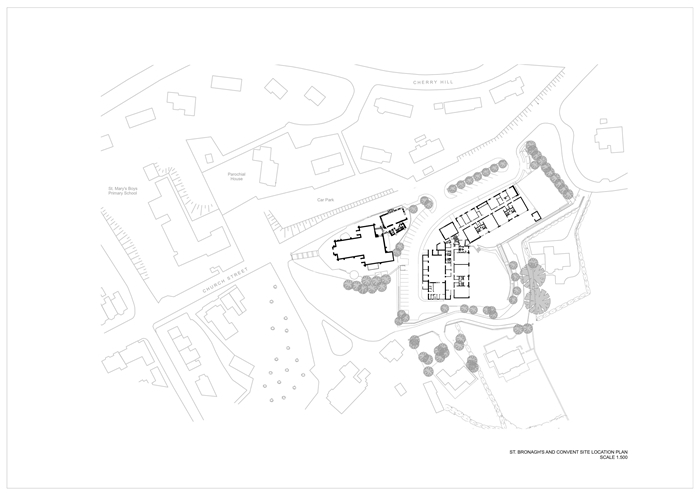 arquitectura_St Bronaghs Primary School_plano situación