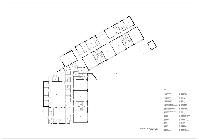 arquitectura_St Bronaghs Primary School_planta