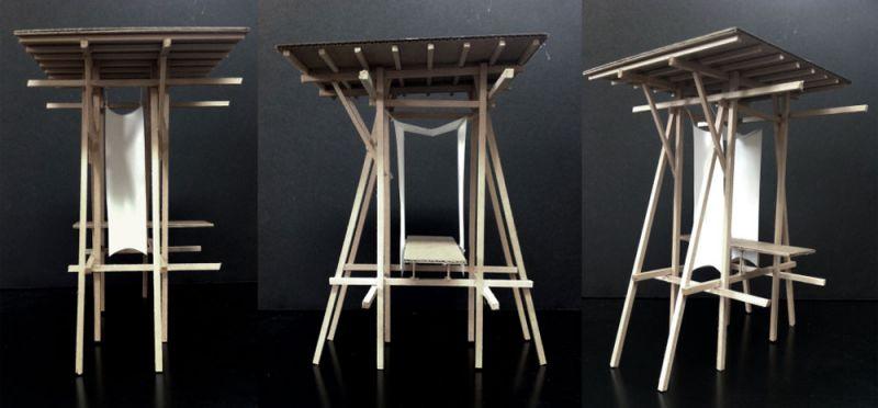 Memorial Steilneset Peter Zumthor y Louise Bourgeois arquitecturayempresa maqueta postes madera