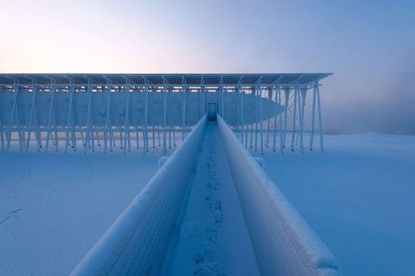 Memorial Steilneset Peter Zumthor y Louise Bourgeois arquitecturayempresa pasarela nevada