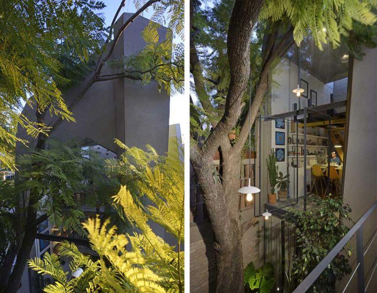 arquitectura studio b15 casa piedras chinas fotografía jorge silba patio