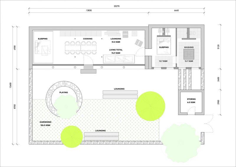 arquitectura_studio cottage_plano