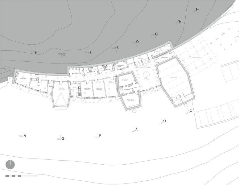 arquitectura_Sunbeams music centre_planta