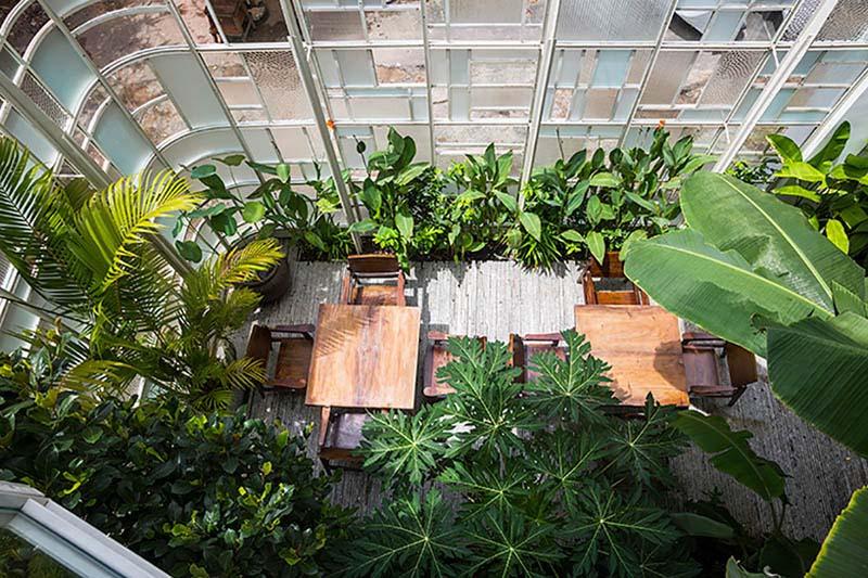 Arquitectura_t-house-keintruc _patio cristalera mobiliario