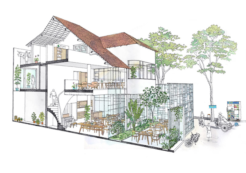 Arquitectura_t-house-keintruc _prespectiva de proyecto