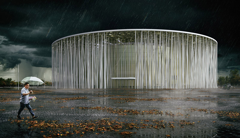 Arquitectura_Teatro Show Wuxi TAIHU_de noche