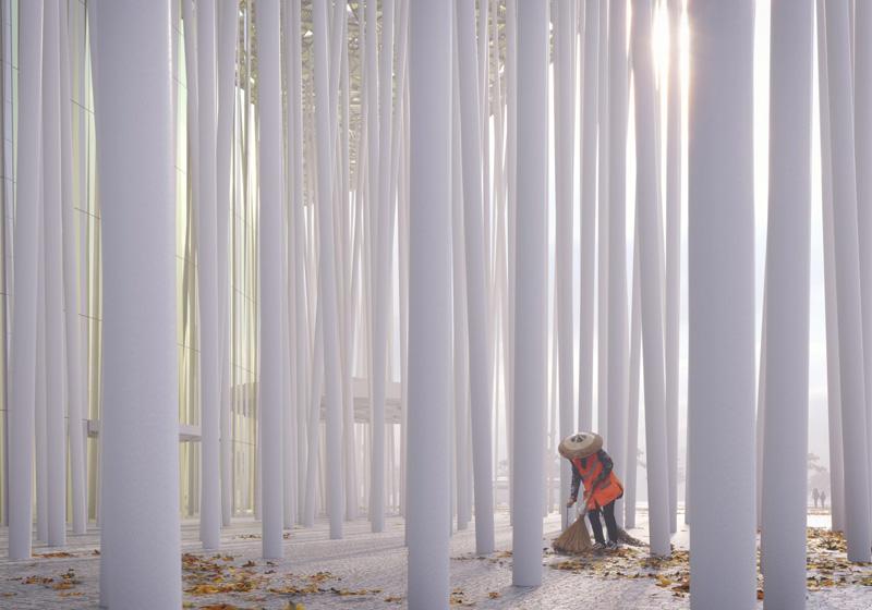Arquitectura_Teatro Show Wuxi TAIHU_columnas blancas