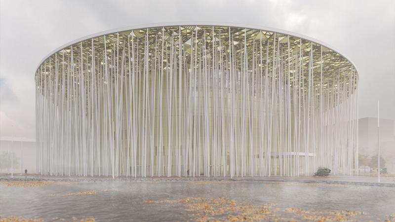 Arquitectura_Teatro Show Wuxi TAIHU_vista de cubierta