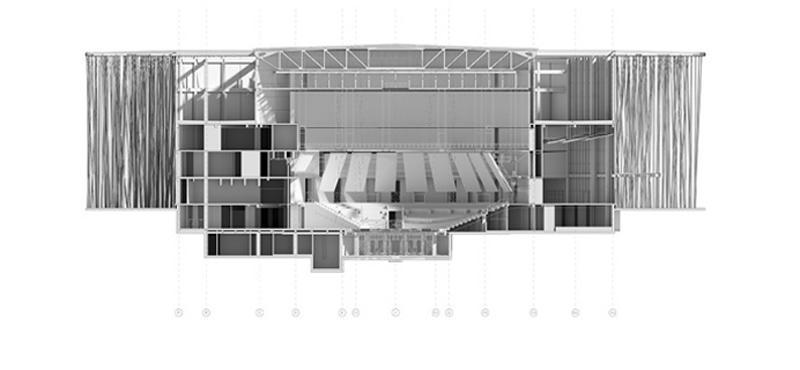 Arquitectura_Teatro Show Wuxi TAIHU_seccion