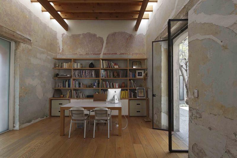 arquitectura_Tecolote_vista interior estructura madera