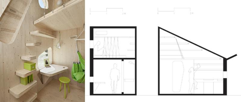 arquitectura, arquitecto, sostenible, micro vivienda, hogar, estudiantes, jovenes, joven, Tengbom Architects, Suecia, Universidad de Lund, sostenible, ecológico, sostenibilidad, madera