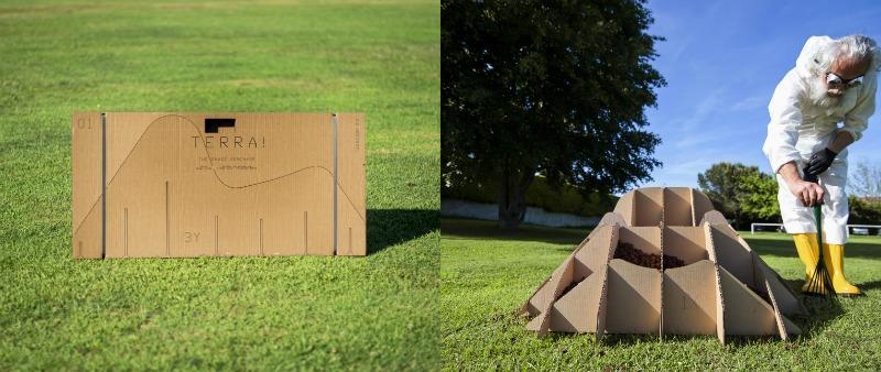 arquitectura, arquitecto, diseño, design, mobiliario, mueble, tierra, naturaleza, TERRA! 2.0, Nucleo, sillón, cerped, hierba, jardín, Italia, Turín, sostenible, cartón, sostenibilidad, ecología, ecológico