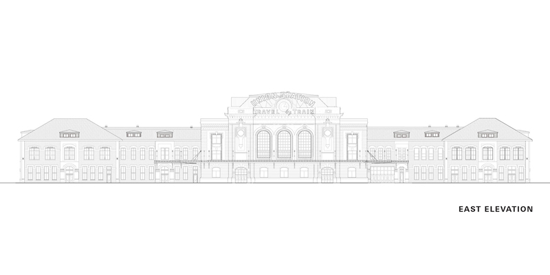Arquitectura_The Crawford Hotel – Denver Union Station_Alzado Este
