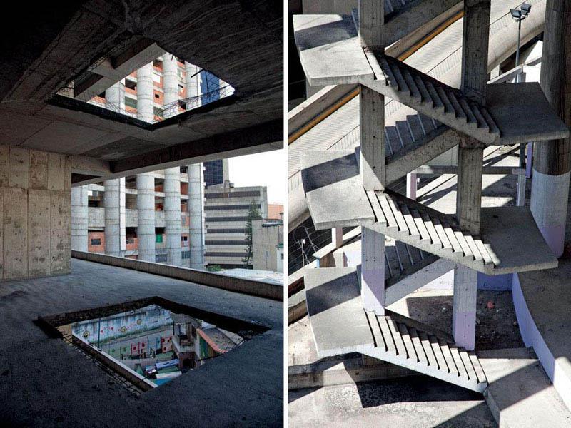 Arquitectura_Torre David_Caracas_ escaleras y núcleo de comunicación