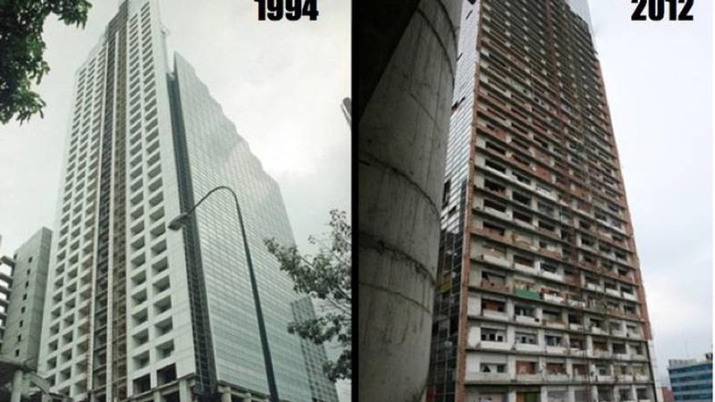 Arquitectura_Torre David_Caracas_comparativa de años
