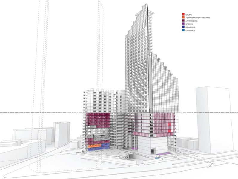 Arquitectura_Torre David_Caracas_dibujo esquema