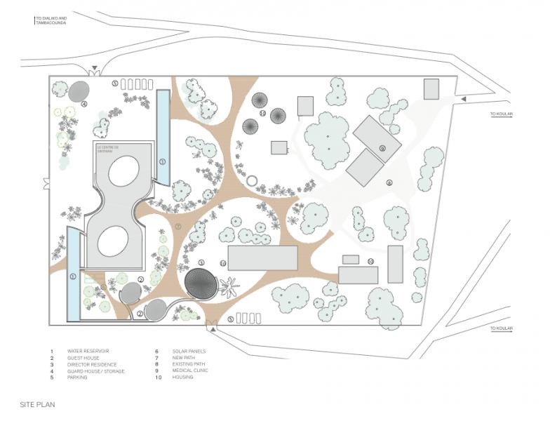 arquitectura_toshiko mori_centro cultural en senegal_planta