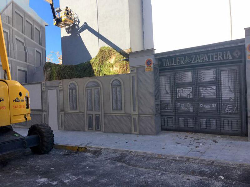 Arquitectura tratamiento medianeras_ antes de pintura _Elda