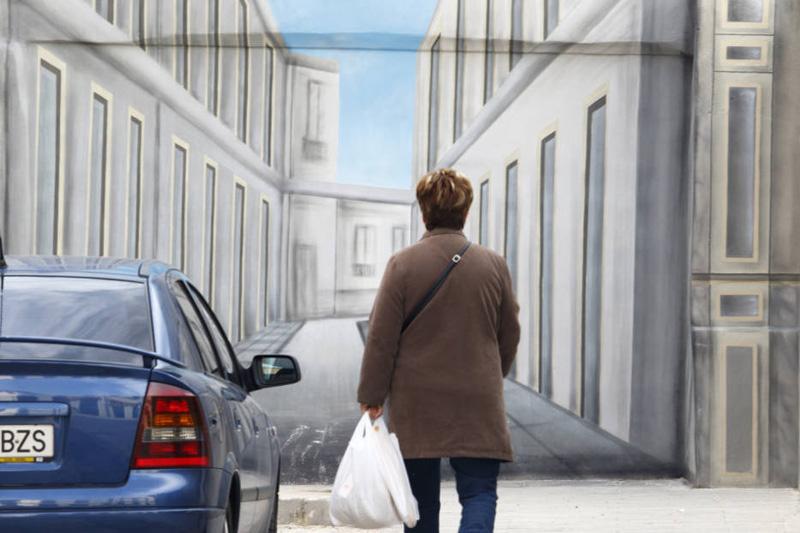 Arquitectura mural trampantojo en Elda